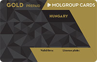 MOL Group Gold Hungary Prepaid kártya